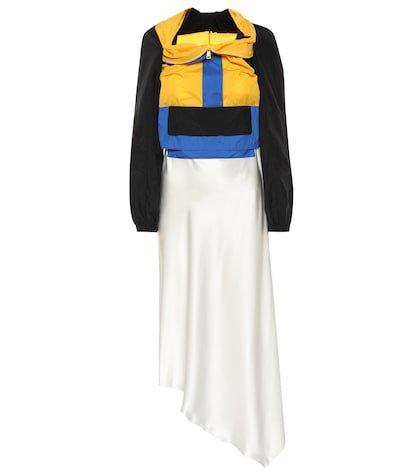 Hybrid silk dress