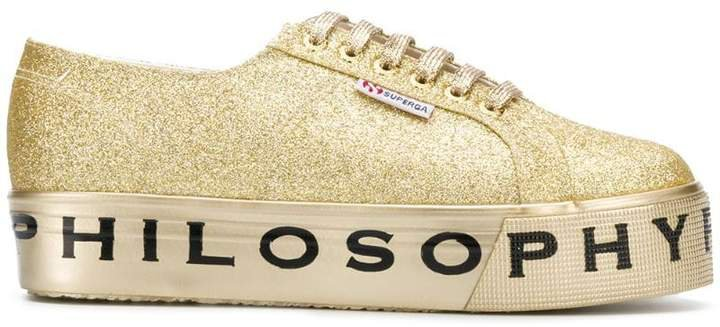 Superga flatform glitter sneakers