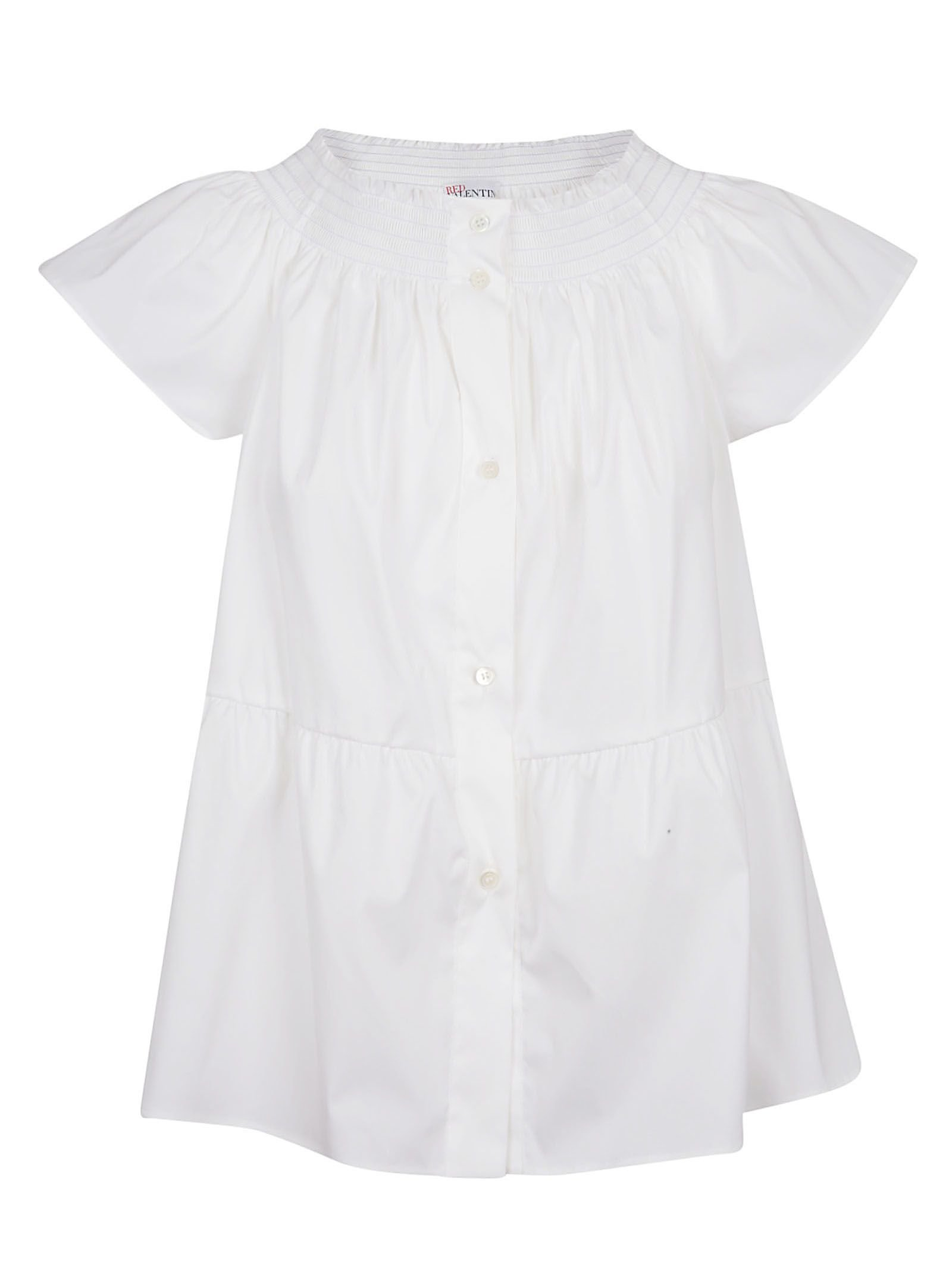 Red Valentino Buttoned Off-shoulder Blouse