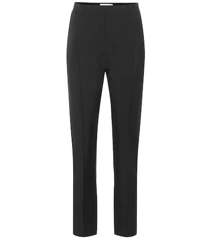 Wool and mohair high-rise pants