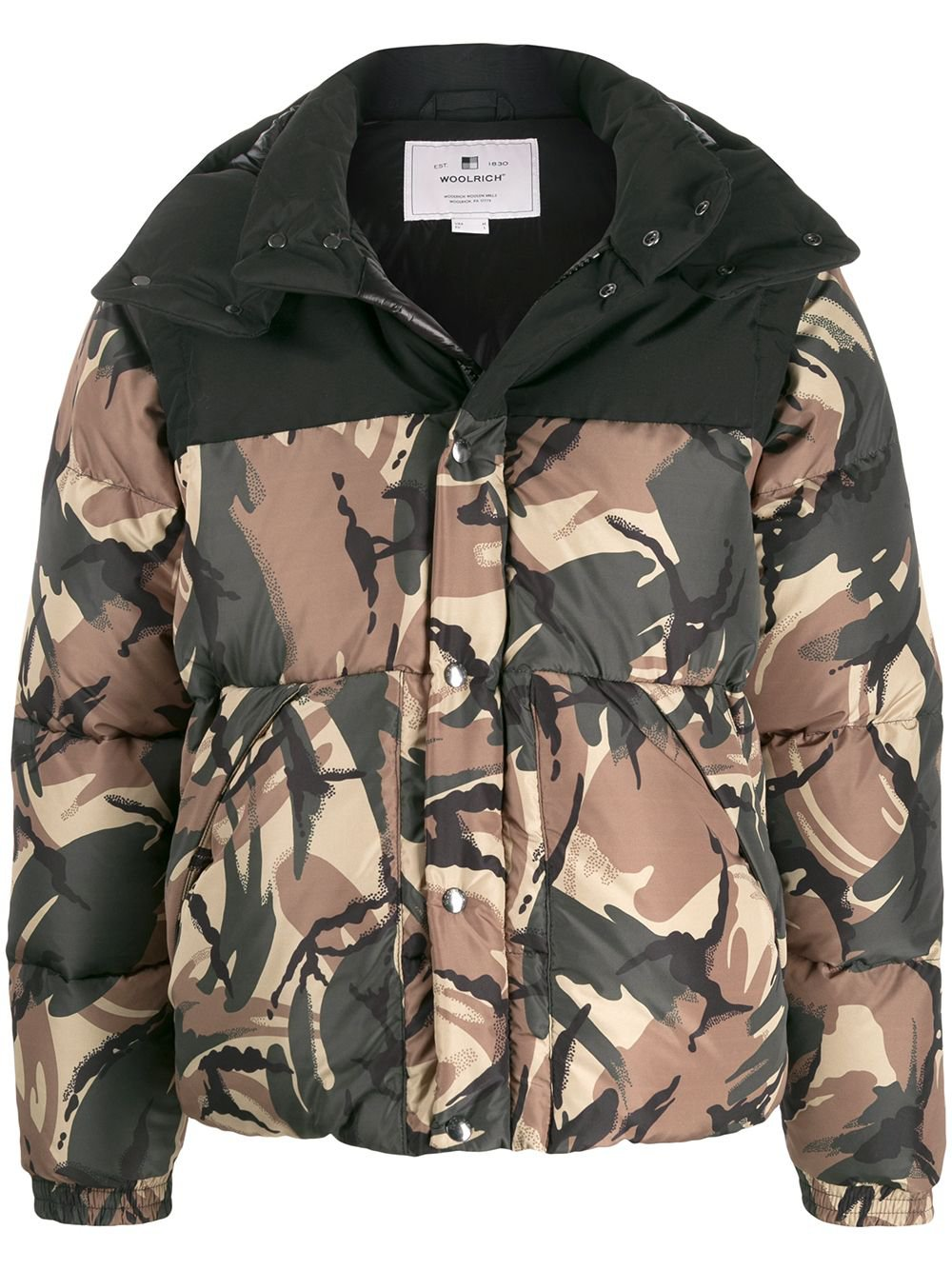 Woolrich Camouflage Print Padded Coat