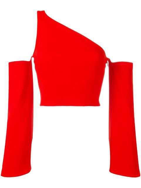 Mugler Single Strap Cut-Off Blouse