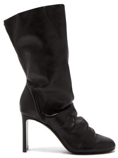 D'arcy Nappa Leather Ankle Boots - Womens - Black
