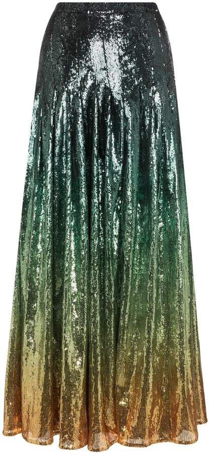 clement ombre sequinned skirt