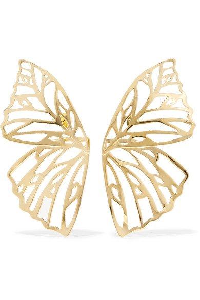 Jennifer Fisher Gold Butterfly Earrings