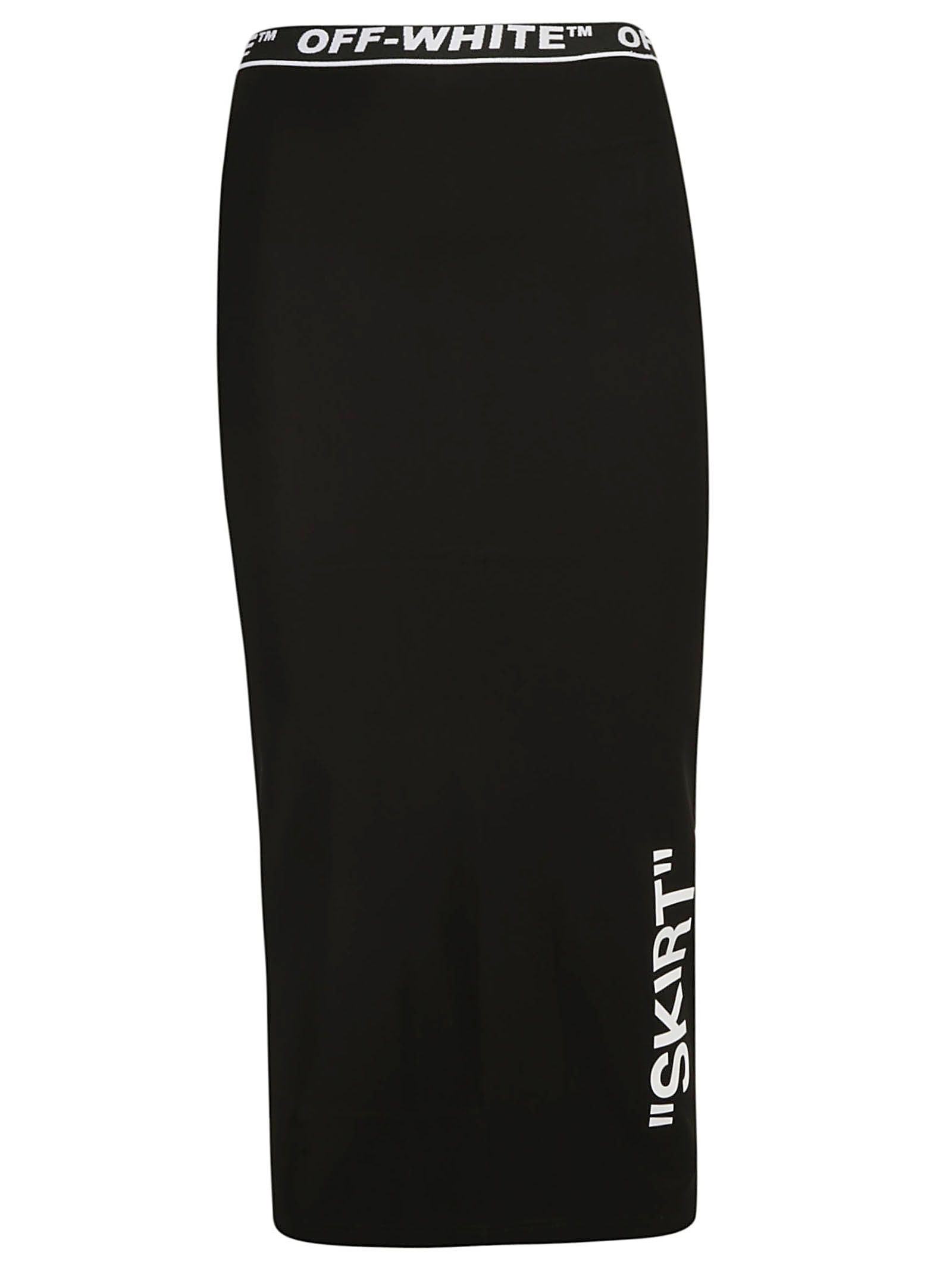 Off-white Pencil Skirt