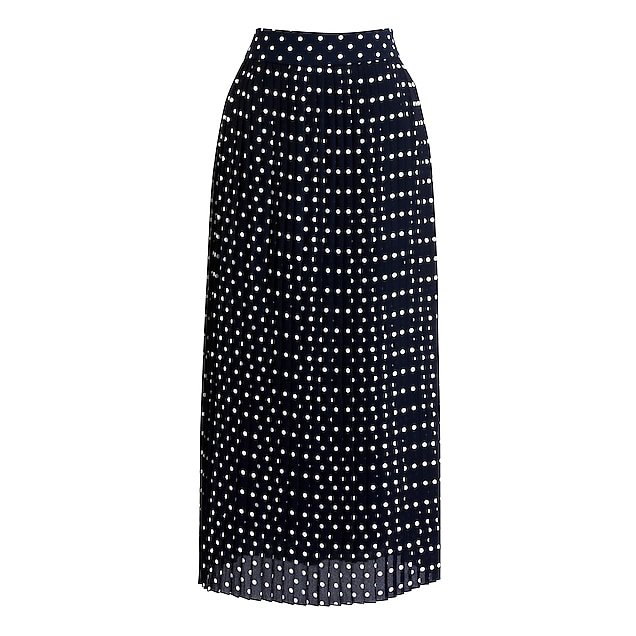 J.Crew Factory: Pleated midi skirt in print