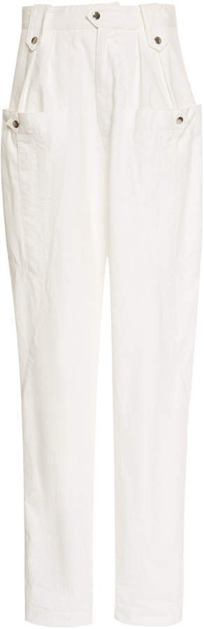 Yerris Cotton Straight-Leg Pants