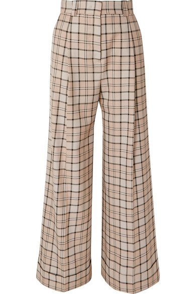 See By Chloé   Checked woven wide-leg pants   NET-A-PORTER.COM