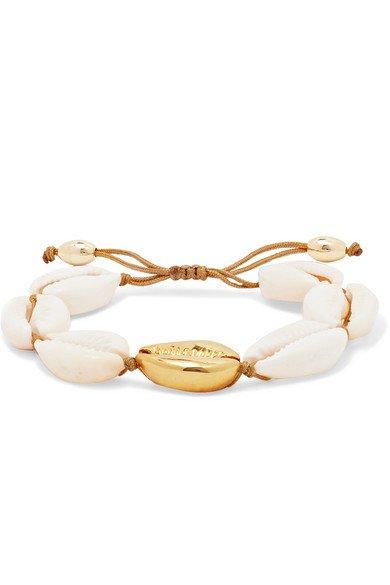 Tohum   Large Puka gold-plated and shell bracelet   NET-A-PORTER.COM
