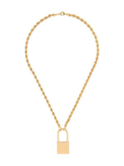 Heron Preston padlock necklace