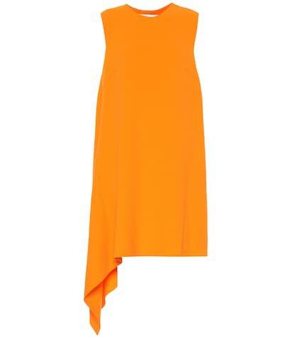 Wool-blend crêpe dress