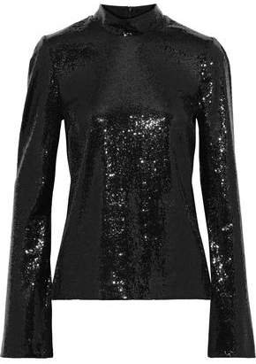 Galaxy Sequined Mesh Top