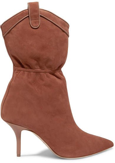 Daisy Suede Ankle Boots - Tan