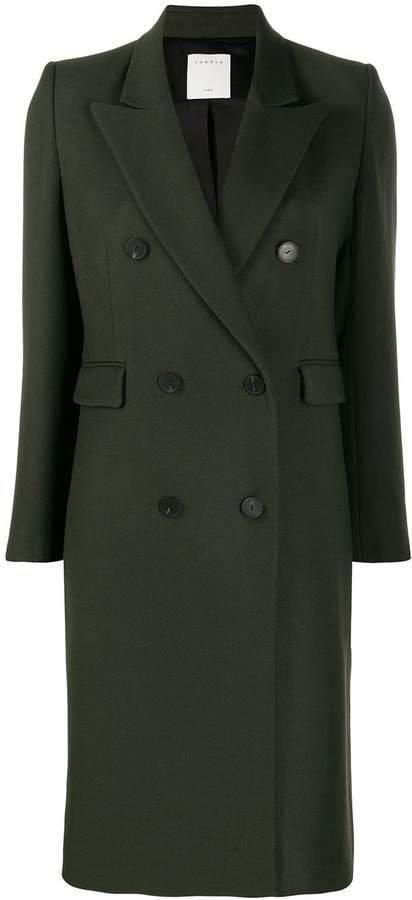 Paris double breasted midi coat