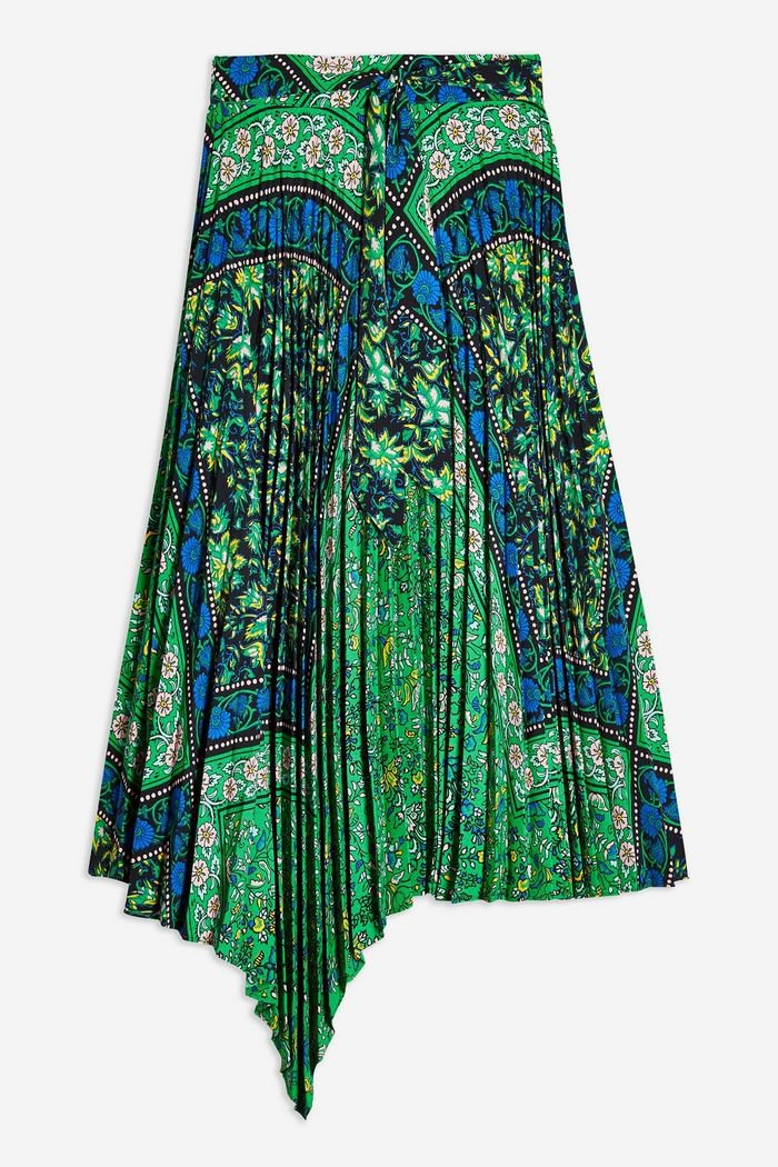 Green Paisley Print Midi Skirt | Topshop Green