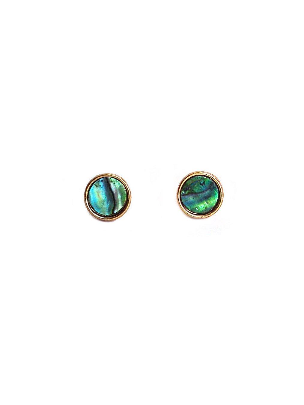 Abalone Shell Circle Ear Studs