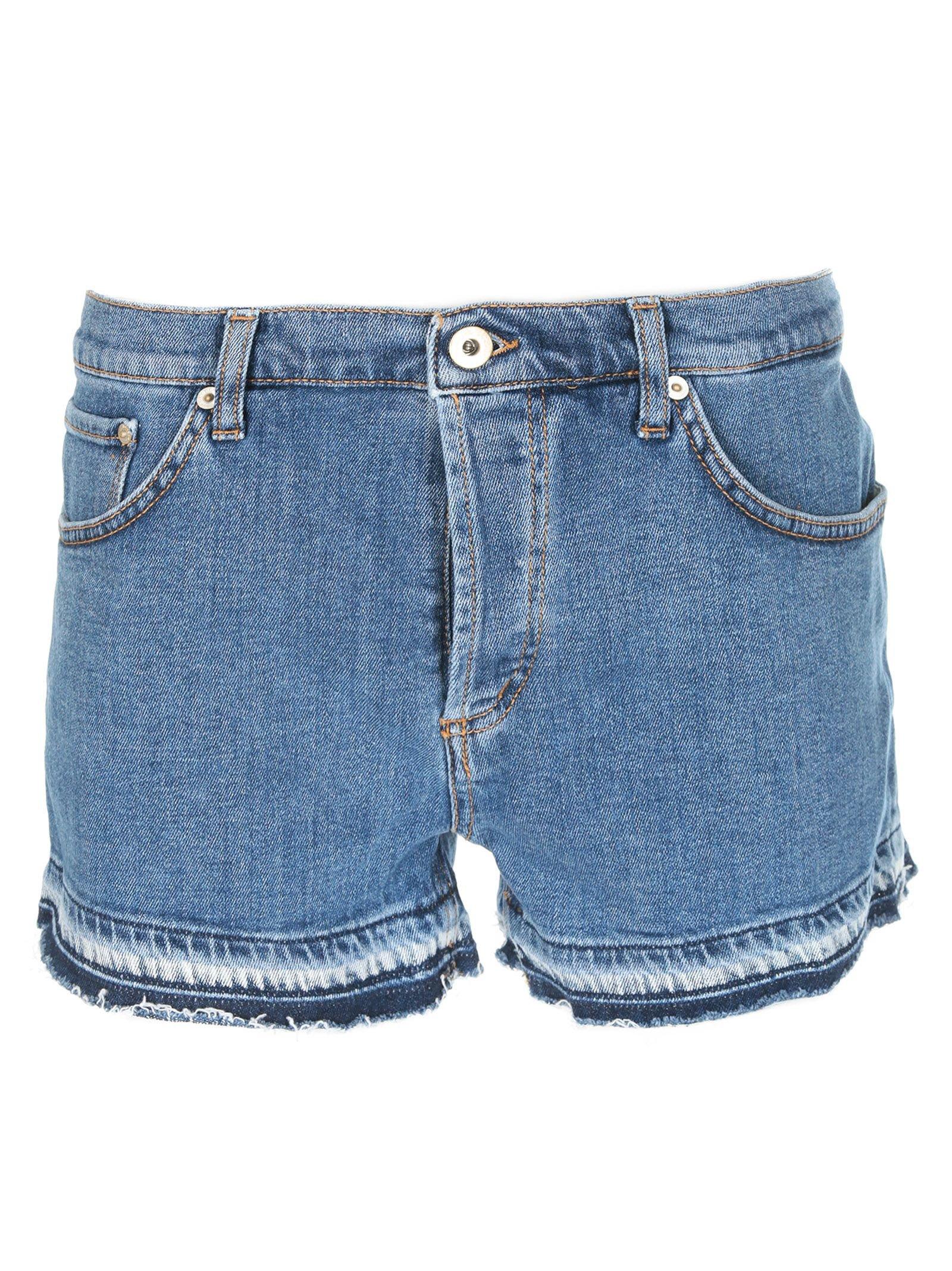 Dondup Frayed Denim Shorts