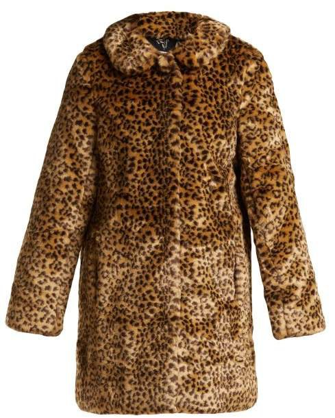 Hvn - Courtney Leopard Print Faux Fur Coat - Womens - Leopard
