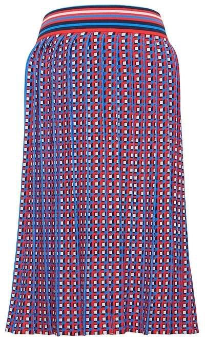 JAPAN EXCLUSIVE Jacquard-Knit Midi Skirt