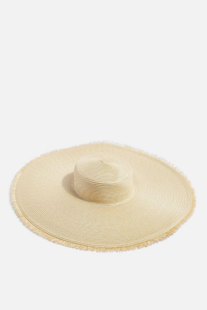 Frayed Oversized Straw Hat   Topshop