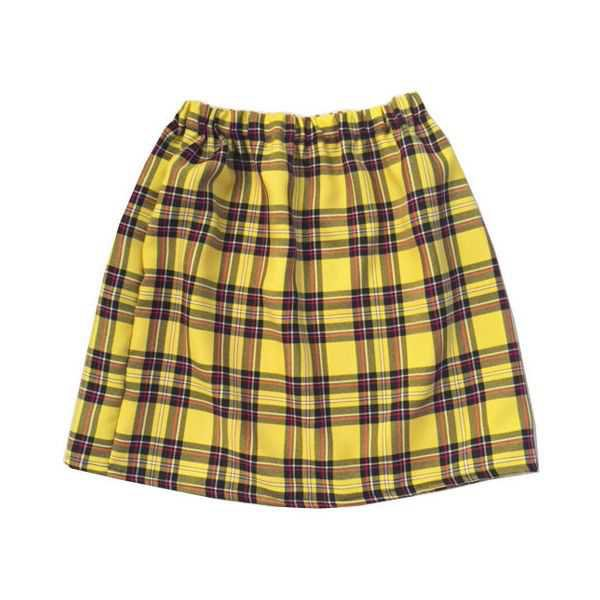 Yellow Tartan Plaid Skirt Clueless Outfit Cher Clueless Costume Womens