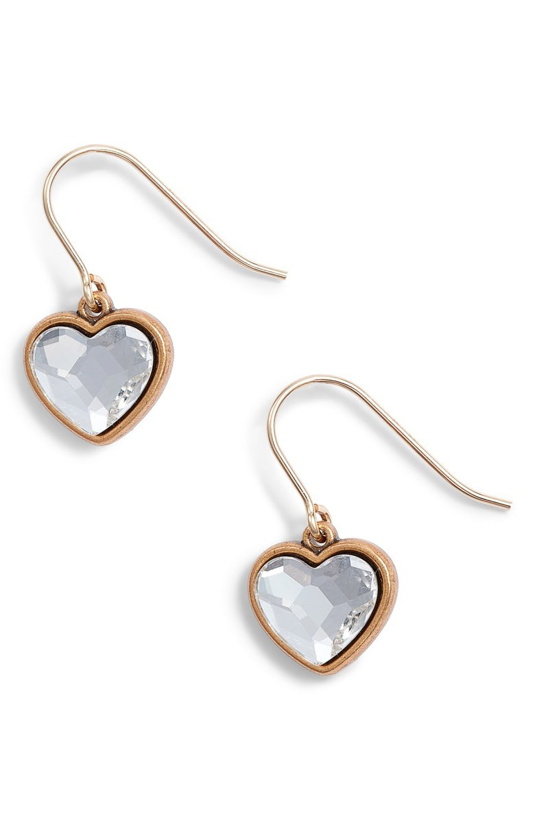 Alex and Ani Crystal Heart Drop Earrings | Nordstrom