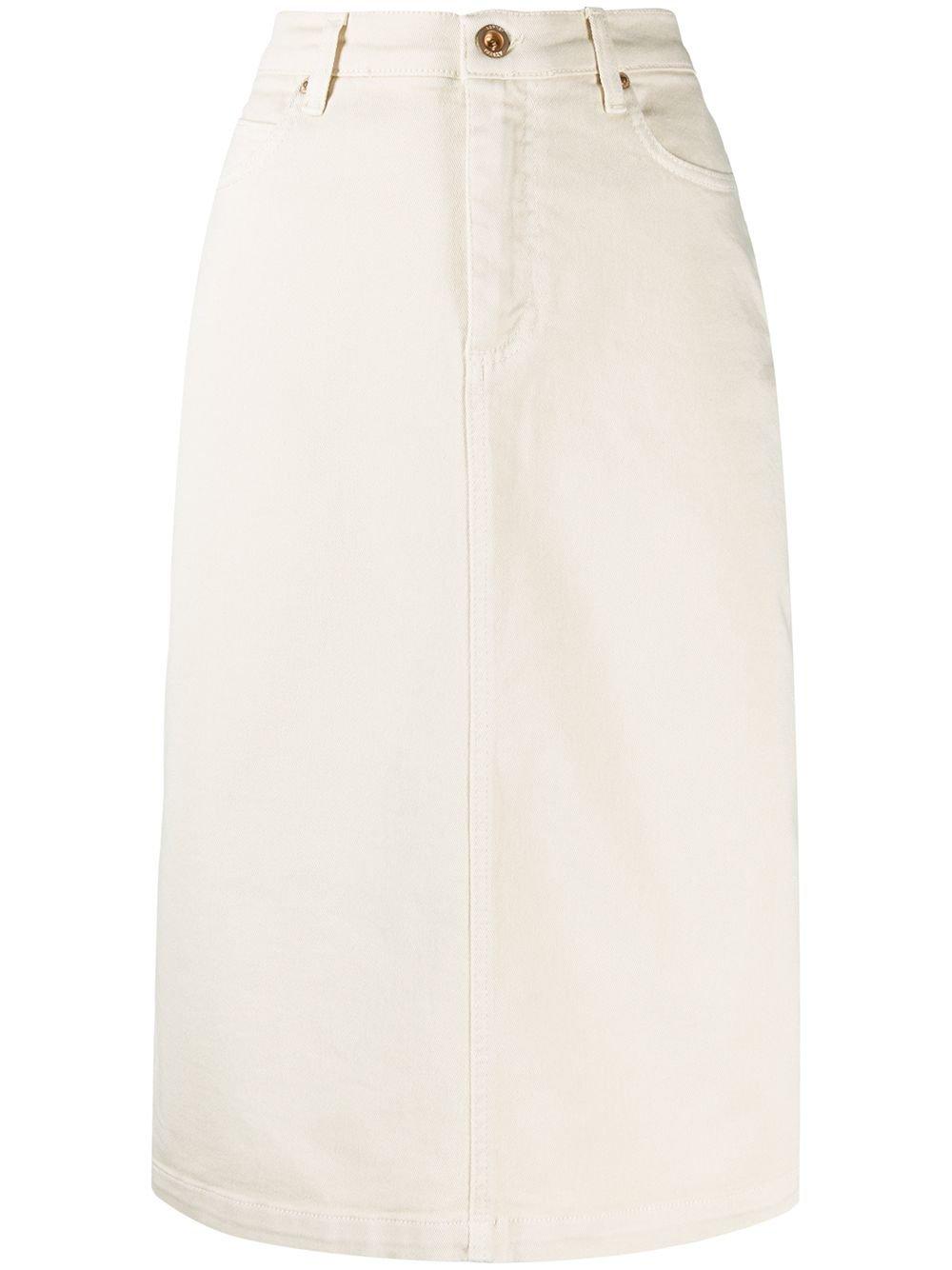 Aspesi High-Waisted Denim Skirt