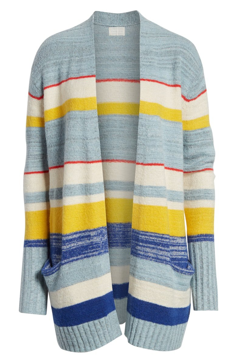 Caslon® Open Front Pocket Cardigan (Regular & Petite) | Nordstrom