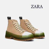 zara fabric high top sneakers - Google Search