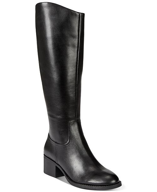 INC International Concepts INC Women's Cerie Riding Boots, Created For Macy's & Reviews - Boots - Shoes - Macy's black