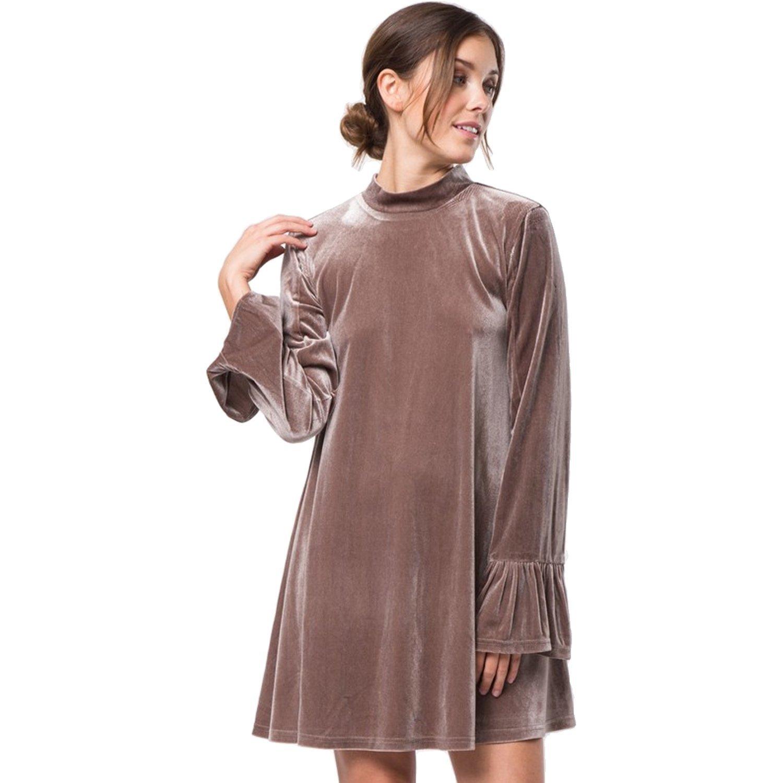 Very J Mock Neck Velvet Dress | Muse Boutique Outlet – Muse Outlet