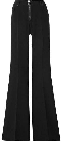 Wool-blend Cady Flared Pants - Black