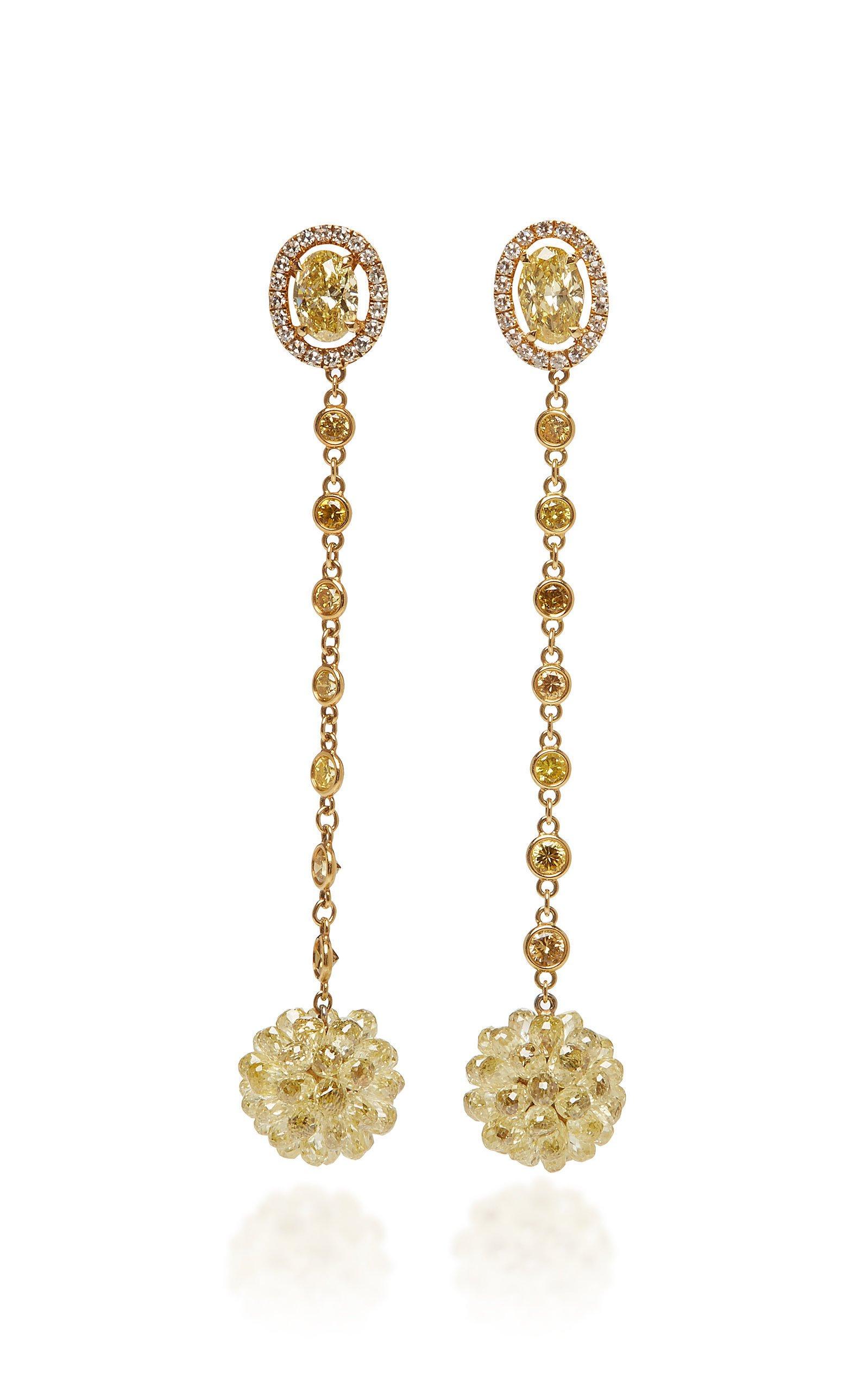 David Morris Briolette Ball Earrings