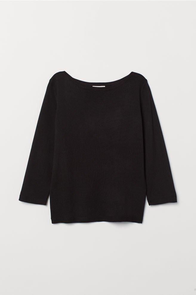 Fine-knit jumper - Black - Ladies   H&M GB