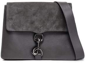 Mab Suede-paneled Leather Shoulder Bag