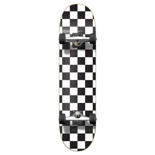 Graphic Complete Skateboard - Checker White