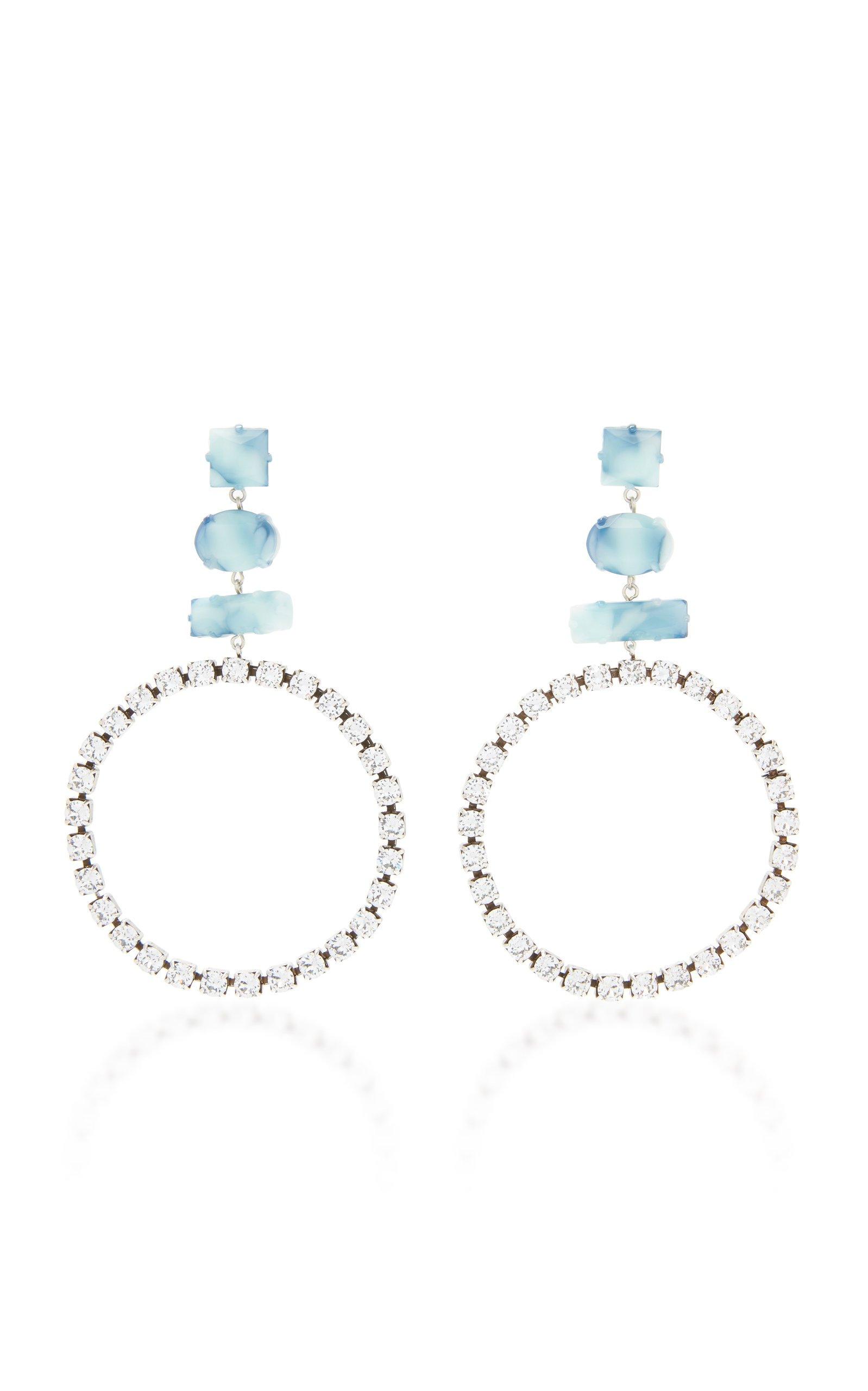 Silver-Tone, Swarovski Crystal And Resin Earrings by Isabel Marant   Moda Operandi