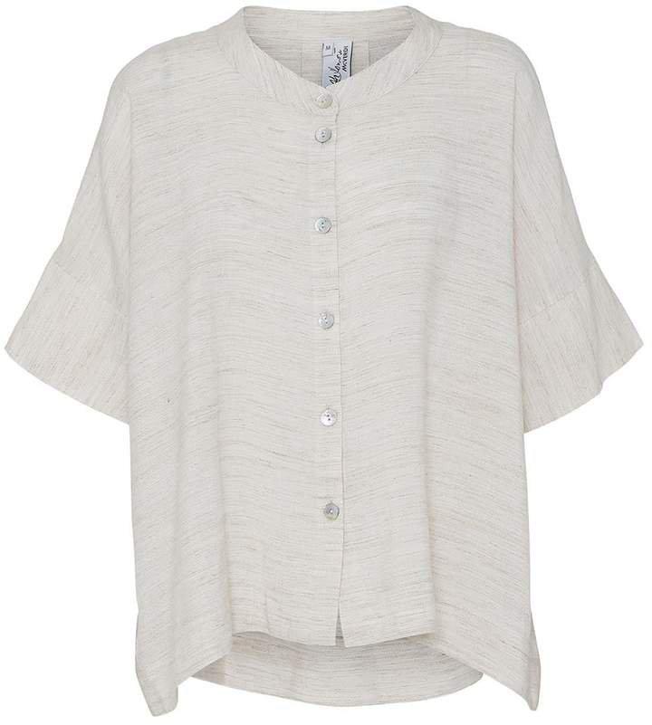 McVERDI - Oversize Loose Offwhite Shirt