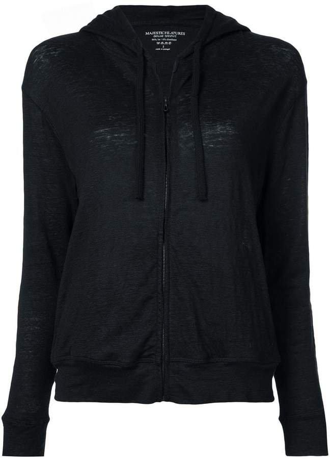 long sleeve zip-up hoodie