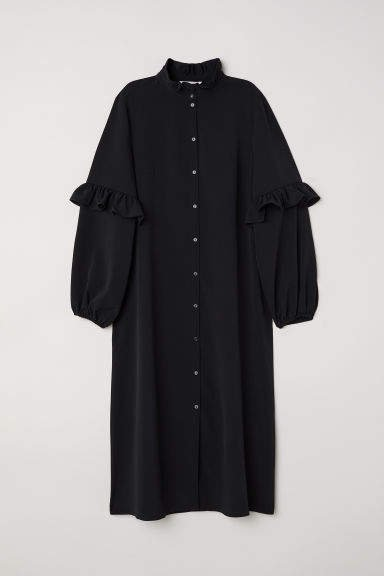 Calf-length Dress - Black