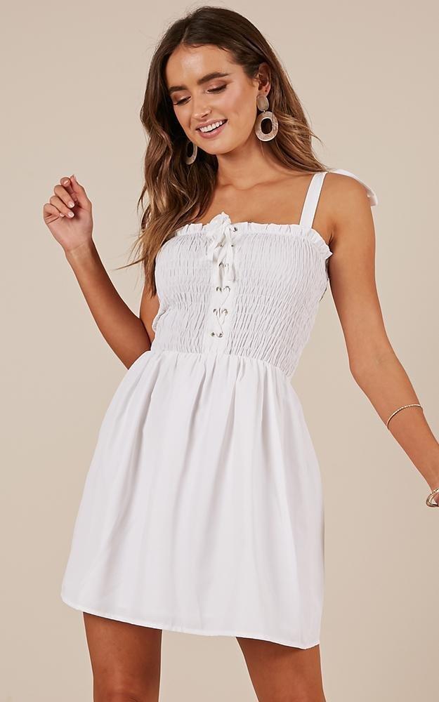 Forgiven Dress in white | Showpo