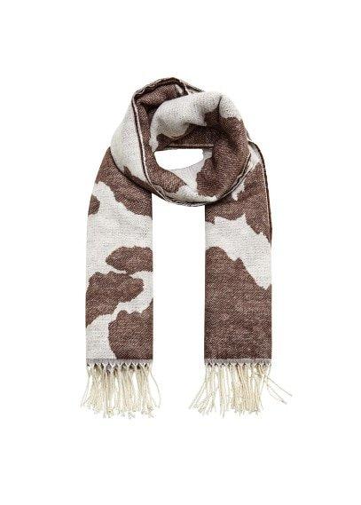 Violeta BY MANGO Animal print scarf