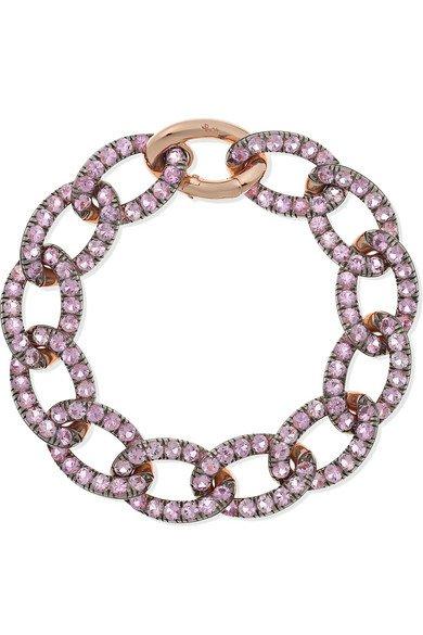 Pomellato | 18-karat rose gold sapphire bracelet | NET-A-PORTER.COM