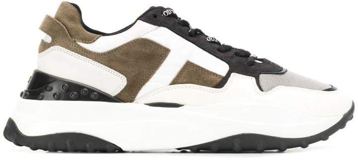 panelled low chunky sneakers