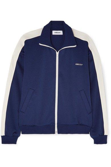 AMBUSH®   Striped satin-jersey track jacket   NET-A-PORTER.COM