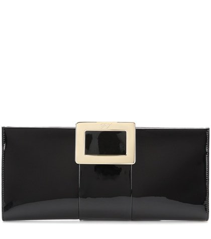 Belle Vivier patent leather clutch