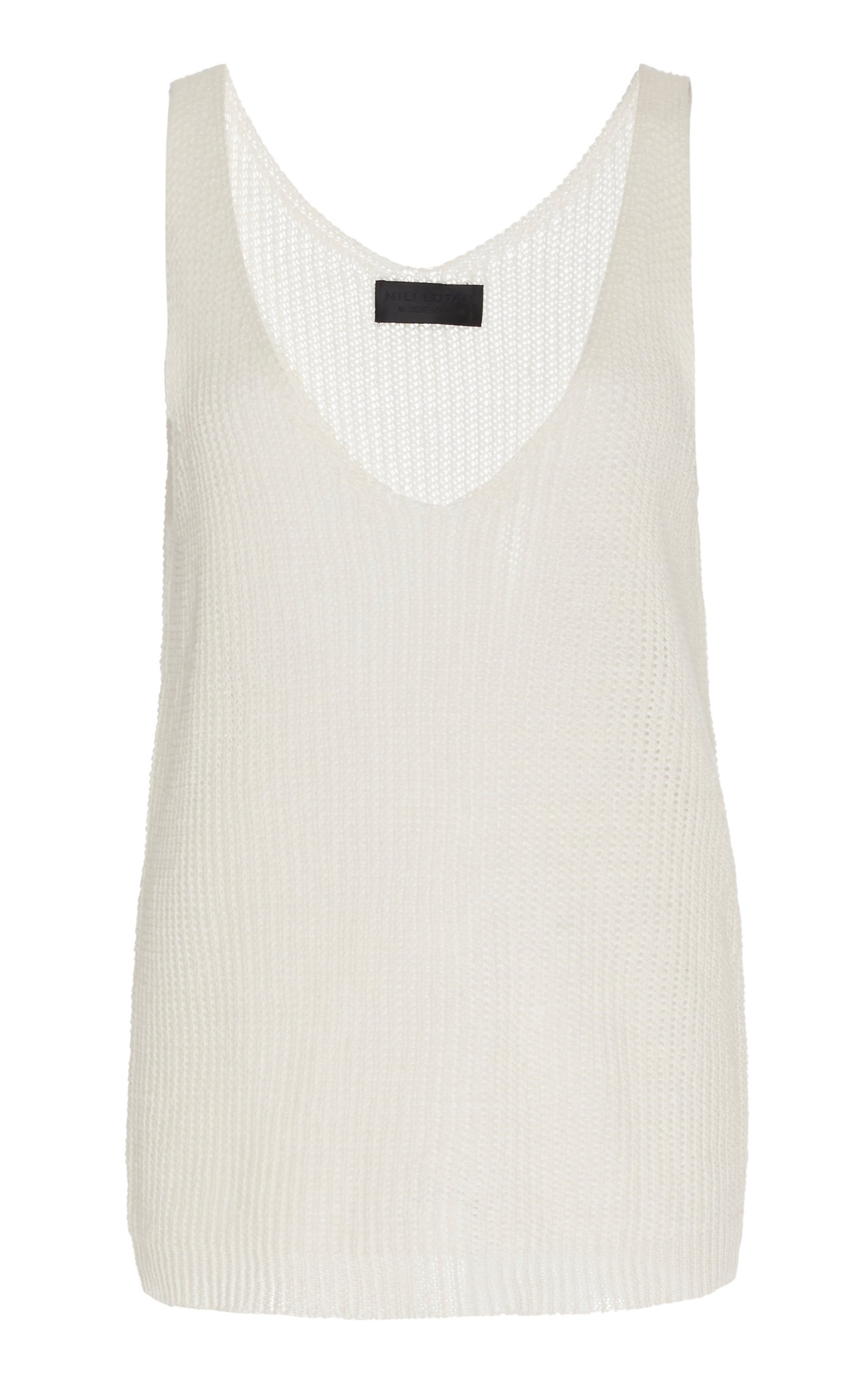 NILI LOTAN Nala Linen Sweater Size: L