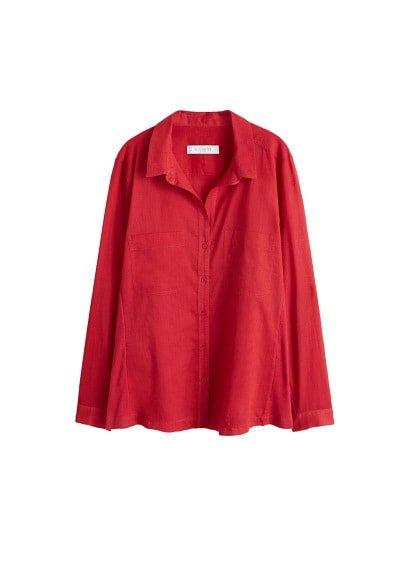 Violeta BY MANGO Chest-pocket cotton blouse