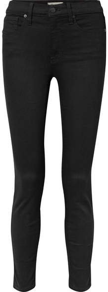 Cropped High-rise Skinny Jeans - Black
